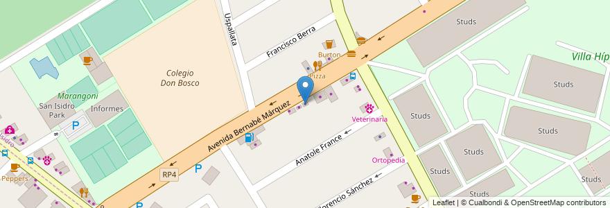 Mapa de ubicacion de Mafalda en San Isidro, Partido De San Isidro, Buenos Aires, Argentina.