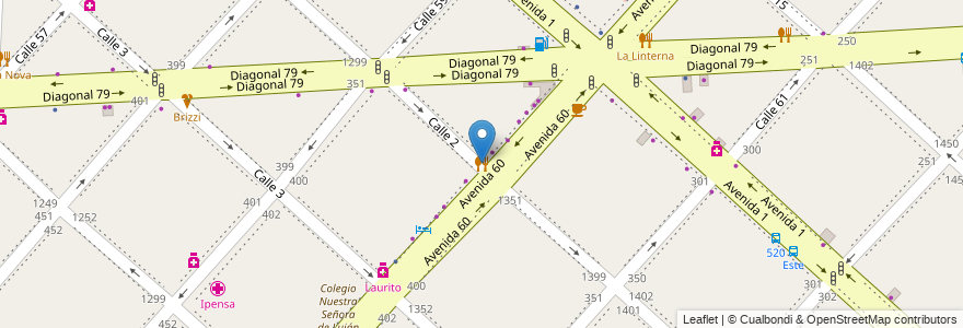 Mapa de ubicacion de Malena, Casco Urbano en La Plata, Partido De La Plata, Buenos Aires, Argentina.