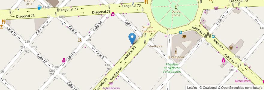 Mapa de ubicacion de Marchan, Casco Urbano en La Plata, Partido De La Plata, Buenos Aires, Argentina.