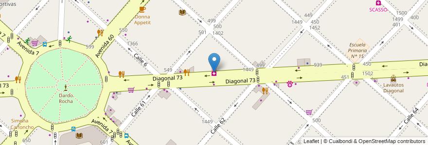 Mapa de ubicacion de Margiotta, Casco Urbano en La Plata, Partido De La Plata, Buenos Aires, Argentina.