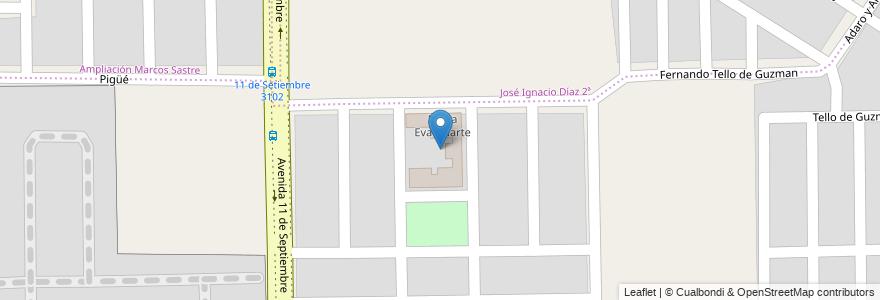 Mapa de ubicacion de Maria Eva Duarte en Córdoba, Municipio De Córdoba, Pedanía Capital, Departamento Capital, Córdoba, Argentina.