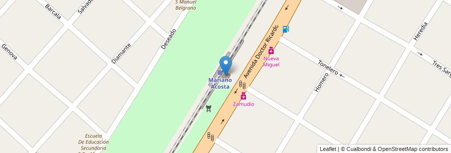 Mapa de ubicacion de Mariano Acosta en Argentina, Buenos Aires, Partido De Merlo, Mariano Acosta.
