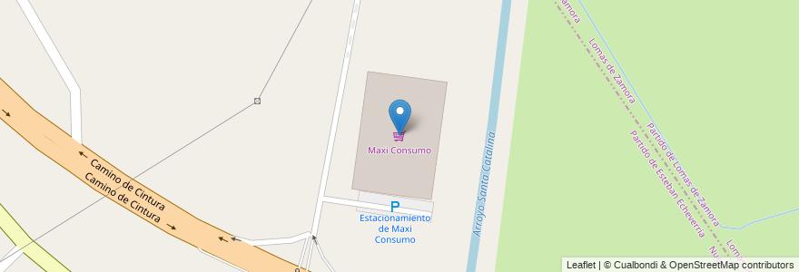 Mapa de ubicacion de Maxi Consumo en Argentina, Buenos Aires, Partido De Esteban Echeverría, 9 De Abril.