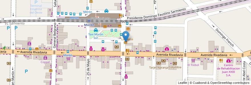 Mapa de ubicacion de McDonald's en Argentina, Buenos Aires, Partido De Morón, Morón.
