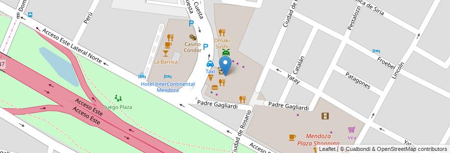 Mapa de ubicacion de McDonald's en Argentina, Mendoza, Departamento Guaymallén, Distrito Villa Nueva.