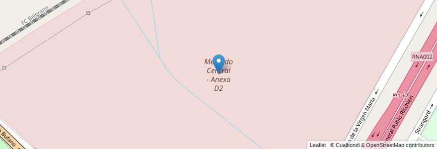 Mapa de ubicacion de Mercado Central - Anexo D2 en Argentina, Buenos Aires, Partido De La Matanza, Aldo Bonzi.