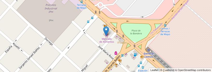 Mapa de ubicacion de Mercado de Alimentos en Argentina, Buenos Aires, Partido De San Miguel.