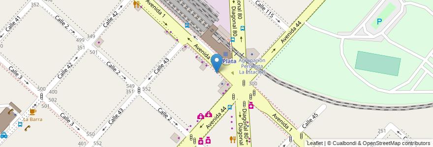 Mapa de ubicacion de Migracion, Casco Urbano en La Plata, Partido De La Plata, Buenos Aires, Argentina.