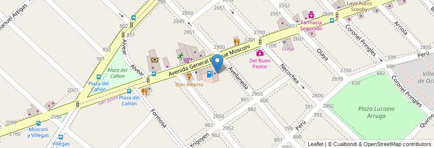 Mapa de ubicacion de Minimercado en Argentina, Buenos Aires, Partido De La Matanza, Lomas Del Mirador.