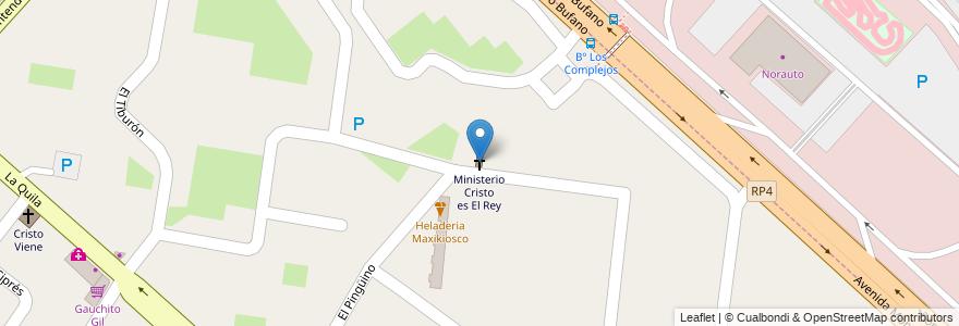Mapa de ubicacion de Ministerio Cristo es El Rey en Ciudad Evita, Partido De La Matanza, Buenos Aires, Argentina.
