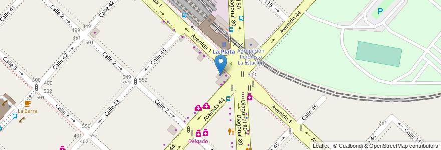 Mapa de ubicacion de Ministerio del Interior y Transporte, Casco Urbano en La Plata, Partido De La Plata, Buenos Aires, Argentina.