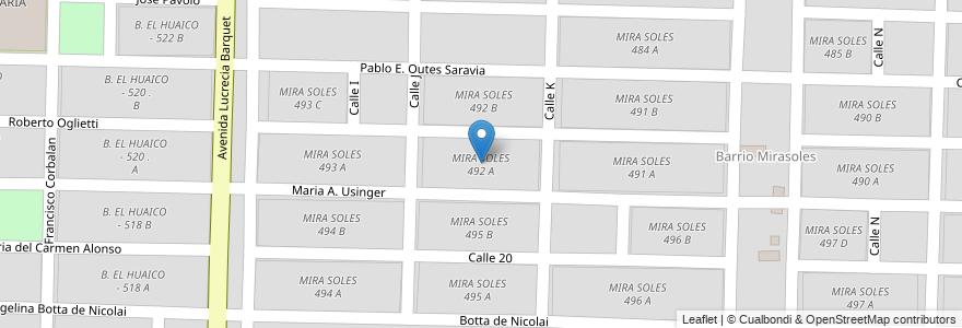 Mapa de ubicacion de MIRA SOLES 492 A en Argentina, Salta, Capital, Salta, Municipio De Salta.