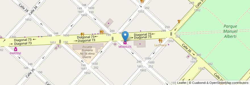 Mapa de ubicacion de MORALES, Casco Urbano en Argentina, Buenos Aires, Partido De La Plata, La Plata.