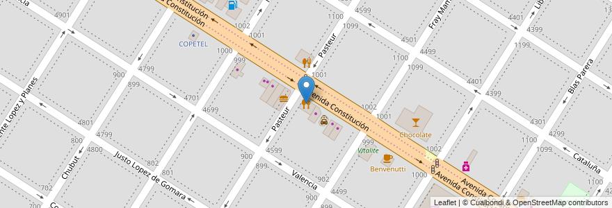Mapa de ubicacion de Moreira en Mar Del Plata, Partido De General Pueyrredón, Buenos Aires, Argentina.