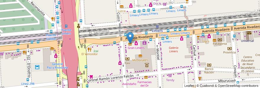 Mapa de ubicacion de Mostaza, Liniers en Argentina, Ciudad Autónoma De Buenos Aires, Buenos Aires, Comuna 9.