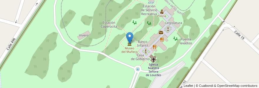 Mapa de ubicacion de Museo del Muñeco, Gonnet en Manuel B. Gonnet, Partido De La Plata, Buenos Aires, Argentina.