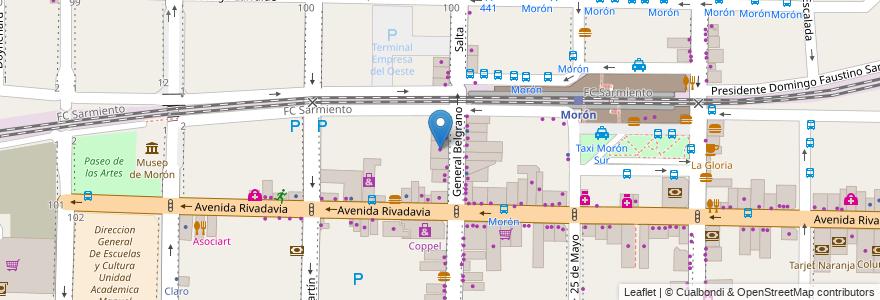 Mapa de ubicacion de Musimundo en Argentina, Buenos Aires, Partido De Morón, Morón.