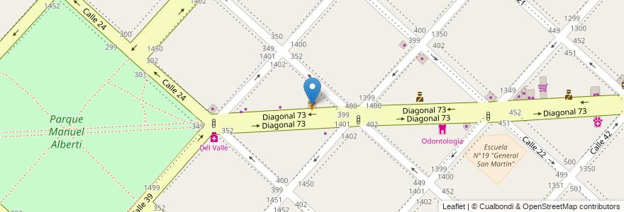 Mapa de ubicacion de Nico, Casco Urbano en La Plata, Partido De La Plata, Buenos Aires, Argentina.