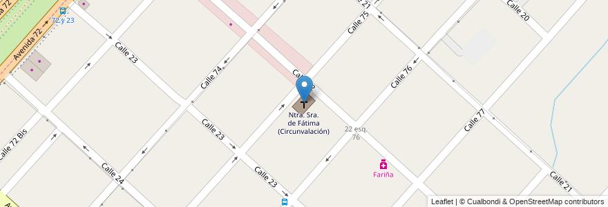 Mapa de ubicacion de Ntra. Sra. de Fátima (Circunvalación), Altos de San Lorenzo en Altos De San Lorenzo, Partido De La Plata, Buenos Aires, Argentina.