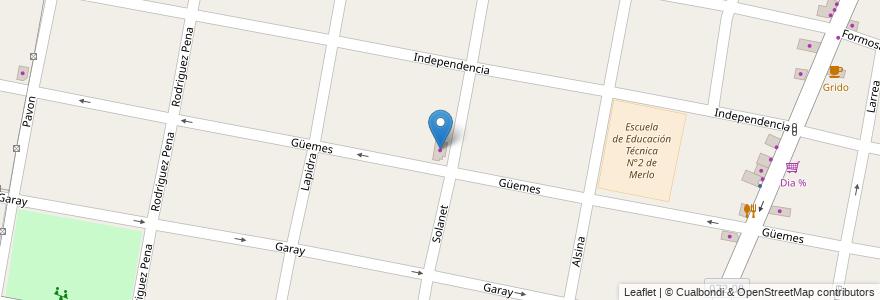Mapa de ubicacion de Nueva Cosecha en Argentina, Buenos Aires, Partido De Merlo, Merlo.