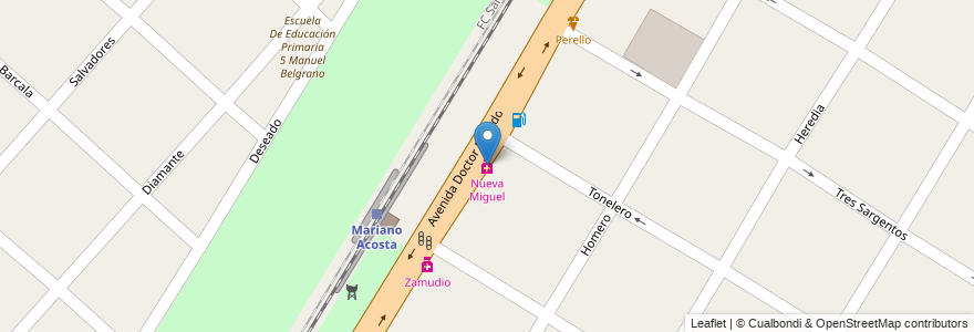 Mapa de ubicacion de Nueva Miguel en Argentina, Buenos Aires, Partido De Merlo, Mariano Acosta.