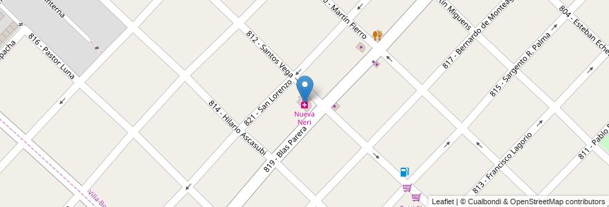 Mapa de ubicacion de Nueva Neri en Argentina, Buenos Aires, Partido De Tres De Febrero, Villa Bosch.
