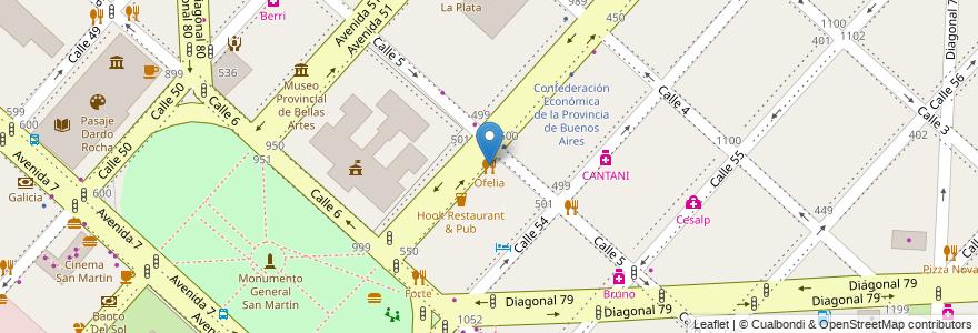 Mapa de ubicacion de Ofelia, Casco Urbano en Argentina, Buenos Aires, Partido De La Plata, La Plata.