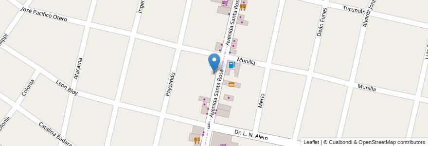 Mapa de ubicacion de Olea Center en Argentina, Buenos Aires, Ituzaingó.