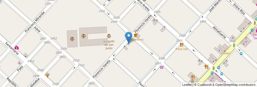 Mapa de ubicacion de Organizacion PAZ en Argentina, Buenos Aires, Partido De La Matanza, San Justo.