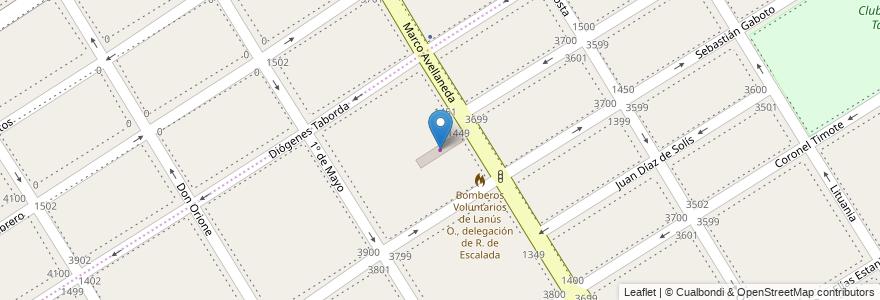 Mapa de ubicacion de Pacificadora de Motores en Argentina, Buenos Aires, Partido De Lanús, Remedios De Escalada.