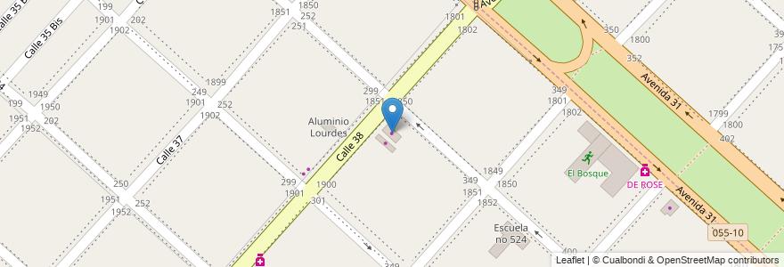 Mapa de ubicacion de Pan Caliente, San Carlos en Partido De La Plata, Buenos Aires, Argentina.