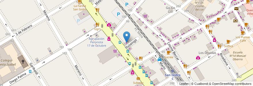 Mapa de ubicacion de Papel Nort en Argentina, Buenos Aires, Partido De San Isidro, San Isidro.
