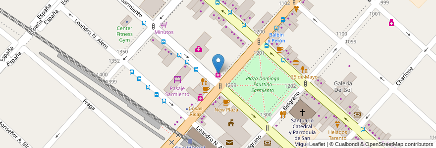 Mapa de ubicacion de Para Ti en Argentina, Buenos Aires, Partido De San Miguel, San Miguel.