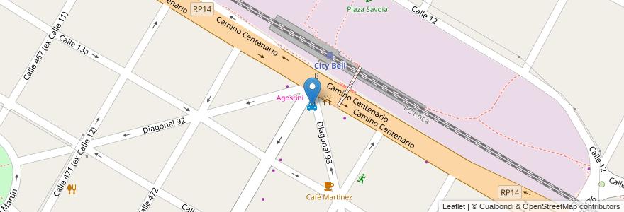 Mapa de ubicacion de Parada de Taxis, City Bell en City Bell, Partido De La Plata, Buenos Aires, Argentina.