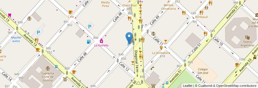 Mapa de ubicacion de Parking, Casco Urbano en Argentina, Buenos Aires, Partido De La Plata, La Plata.