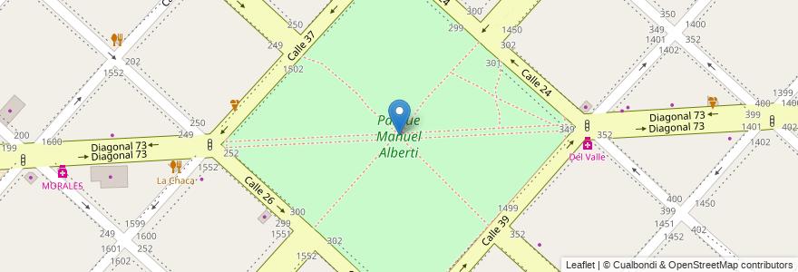 Mapa de ubicacion de Parque Manuel Alberti, Casco Urbano en Argentina, Buenos Aires, Partido De La Plata, La Plata.