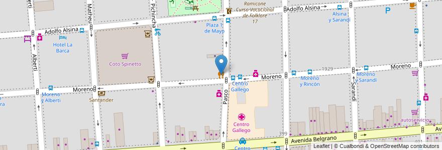 Mapa de ubicacion de Parrilla El Litorel, Balvanera en Argentina, Ciudad Autónoma De Buenos Aires, Comuna 3, Buenos Aires.