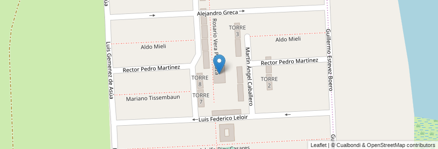 Mapa de ubicacion de Parroquia Nrta. Sra. del Perpetuo Socorro en Santa Fe Capital, Departamento La Capital, Santa Fe, Argentina.
