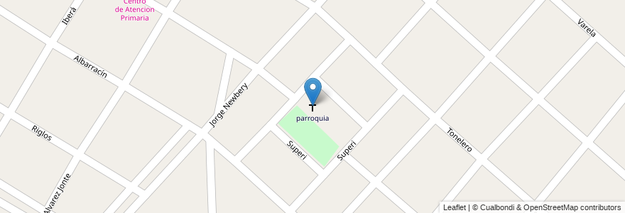 Mapa de ubicacion de parroquia en Argentina, Buenos Aires, Partido De Merlo, Mariano Acosta.