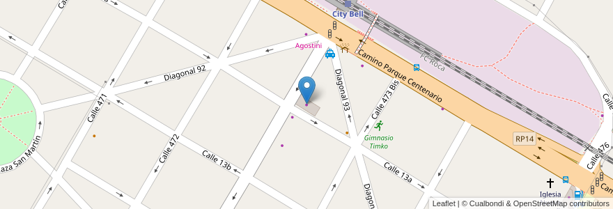 Mapa de ubicacion de Paseo La Cuadra, City Bell en City Bell, Partido De La Plata, Buenos Aires, Argentina.