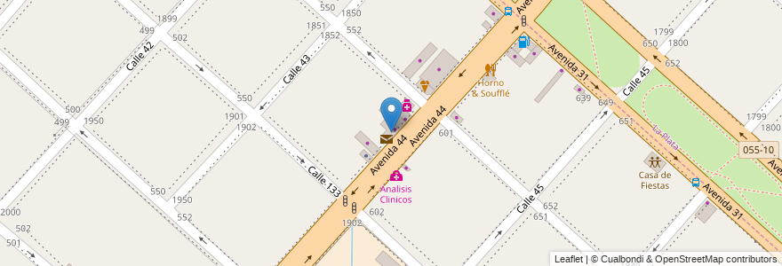 Mapa de ubicacion de Paty Fiesta, San Carlos en Argentina, Buenos Aires, Partido De La Plata, San Carlos.