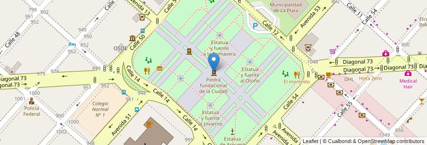 Mapa de ubicacion de Piedra fundacional de la Ciudad, Casco Urbano en Argentina, Buenos Aires, Partido De La Plata, La Plata.