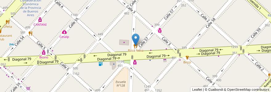 Mapa de ubicacion de Pizza Nova, Casco Urbano en La Plata, Partido De La Plata, Buenos Aires, Argentina.
