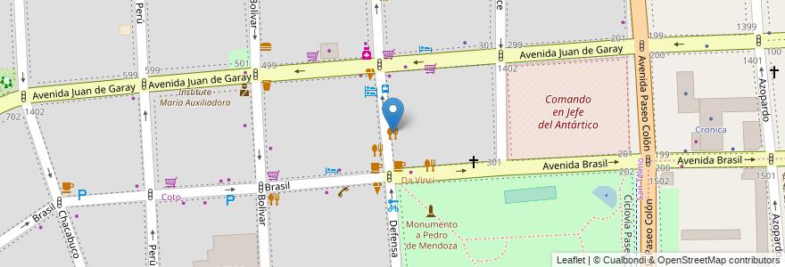Mapa de ubicacion de Pizzería La Continental, San Telmo en Argentina, Ciudad Autónoma De Buenos Aires, Comuna 4, Comuna 1, Buenos Aires.