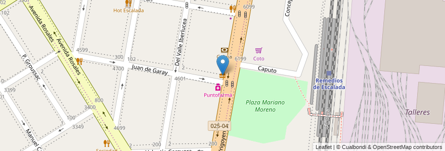 Mapa de ubicacion de Pizzería La Flor de Gerli en Argentina, Buenos Aires, Partido De Lanús, Remedios De Escalada.