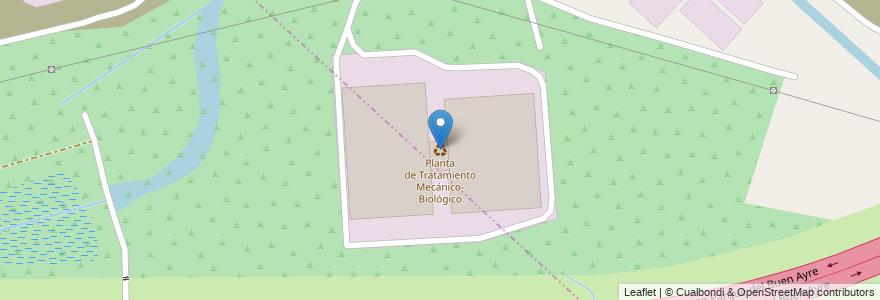 Mapa de ubicacion de Planta de Tratamiento Mecánico-Biológico en Argentina, Buenos Aires, Partido De General San Martín, Loma Hermosa.