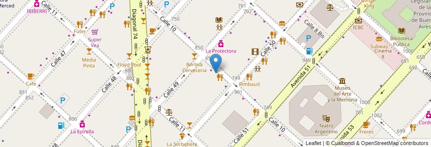 Mapa de ubicacion de Play Stadium, Casco Urbano en La Plata, Partido De La Plata, Buenos Aires, Argentina.