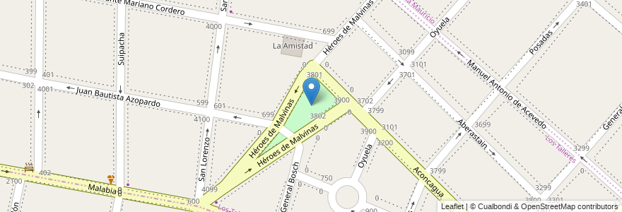 Mapa de ubicacion de Plaza Carlos Gardel en Argentina, Buenos Aires, Partido De Lanús, Partido De Lomas De Zamora, Remedios De Escalada.