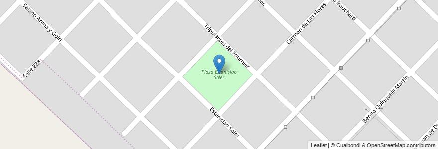 Mapa de ubicacion de Plaza Estanislao Soler en Mar Del Plata, Partido De General Pueyrredón, Buenos Aires, Argentina.