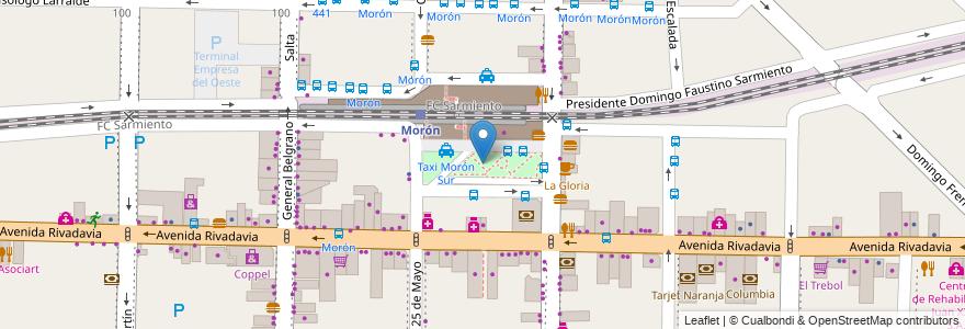 Mapa de ubicacion de Plaza La Roche en Argentina, Buenos Aires, Partido De Morón, Morón.